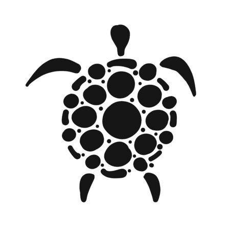 Turtle  silhouette for your design