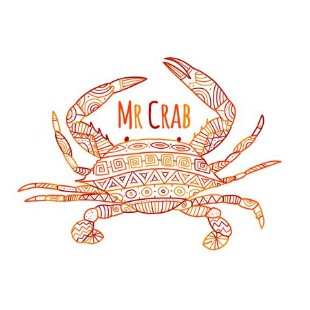 Red crab, sketch for your design