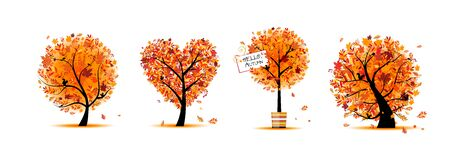 Autumn trees collection for your design.