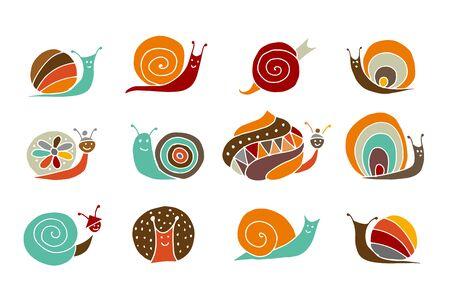 Escargot drôle Vecteurs