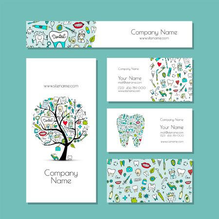Business cards design, dental clinic