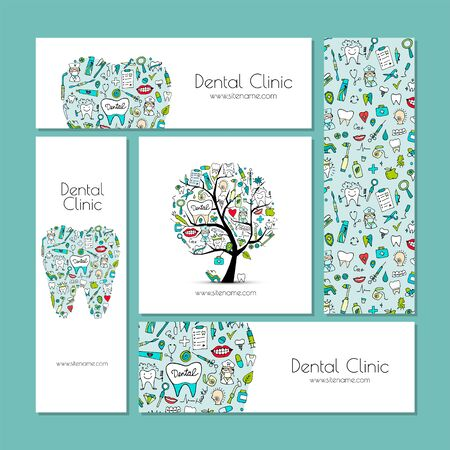Business cards design, dental clinic