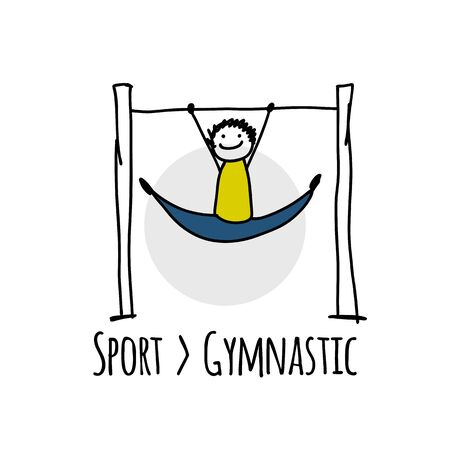 Sport icon design. Gymnast doing exercises