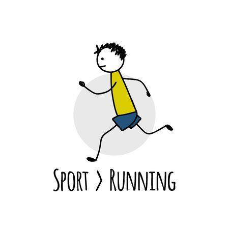 Sport-Icon-Design. Läufercharakter