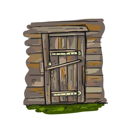 Old door, sketch for your design
