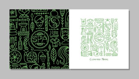 Book cover design. Spa salon background Ilustracja