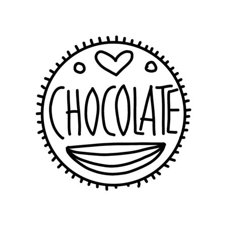 Chocolate, art sign for your design