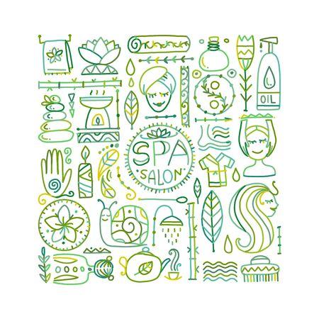 Spa salon background for your design. Vector illustration