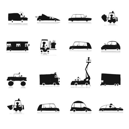 Baby toy cars collection for your design Vektorové ilustrace