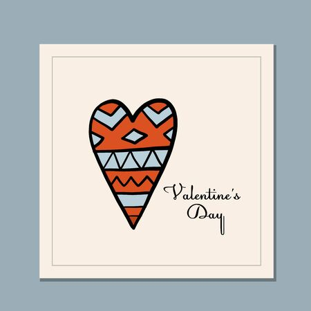Valentines day greeting card design. Love and Wedding Art. Vector illustration