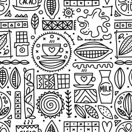 Chocolate background, seamless pattern for your design Vetores