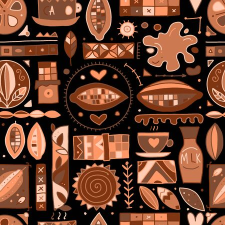 Chocolate background, seamless pattern for your design