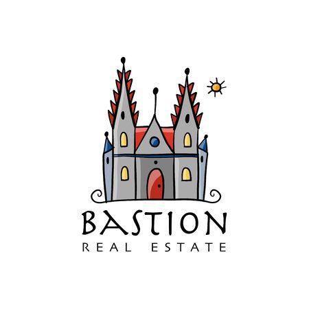 Gotic castle, sketch for your design