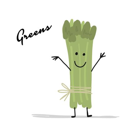 Bunch of greens, character for your design. Vector illustration