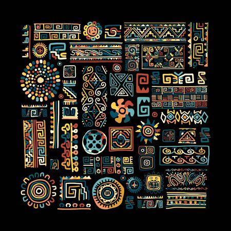 Ethnische handgemachte Verzierung für Ihr Design