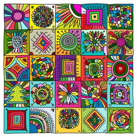 Patrón geométrico abstracto para su diseño. Ilustración vectorial
