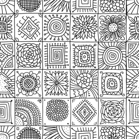 Abstract geometric seamless pattern for your design Ilustracja