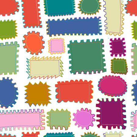 Post stamp collection, seamless pattern for your design