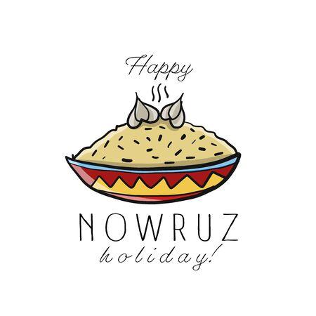 Nowruz greeting card. Iranian new year.