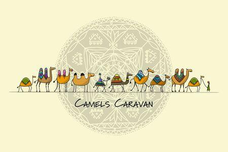 Kamele Wohnwagen, Skizze für Ihr Design