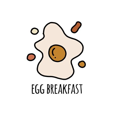 Fried eggs breakfast, sketch for your design