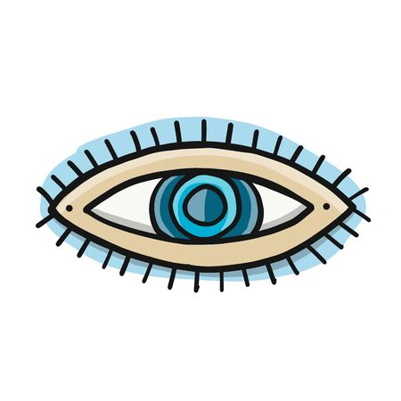 Eye icon. Sketch for your design