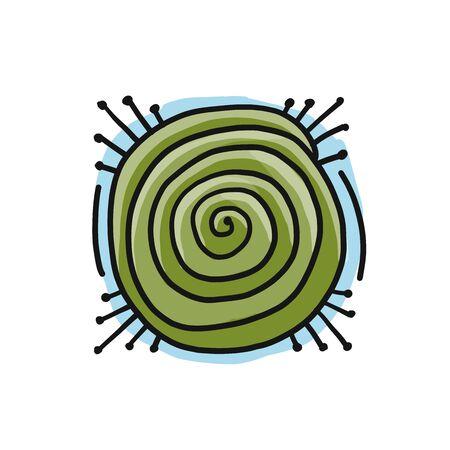 Esoteric energy spiral. Simple icon Isolated on white background Illusztráció