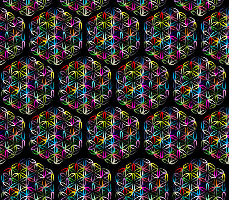 Flower of Life, seamless pattern for your design Çizim