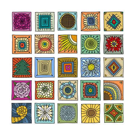 Talavera pattern. Indian patchwork. Turkish ornament. Moroccan tile mosaic. Spanish decoration. Ethnic background.