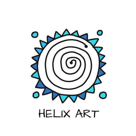 Esoteric energy spiral. Simple icon Isolated on white background  イラスト・ベクター素材