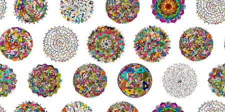 Mandala collection, seamless pattern for your design Vetores