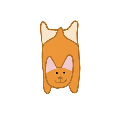 Corgi dog. Funny Puppy. Sketch for your design
