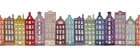 Architectural cityscape background. Seamless Pattern for your design