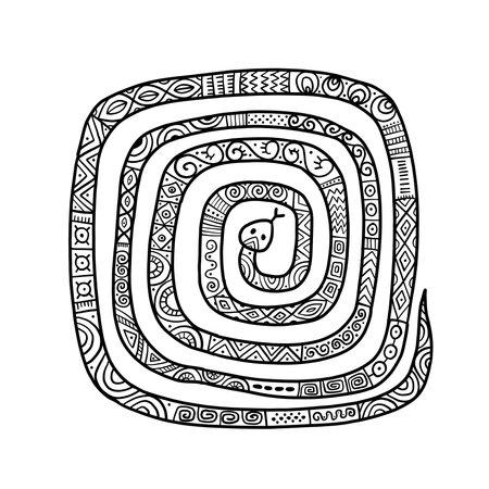 Snake shape. tribal ethnic ornament for your design