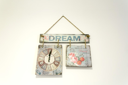 wooden clock: Wooden Clock with picture