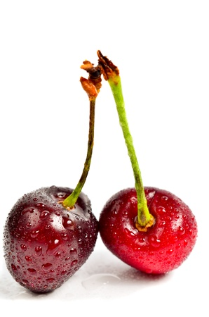 berry cherry on a white background photo