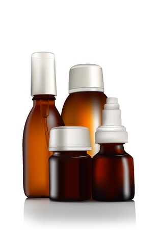 medicine bottles: medications in bottles
