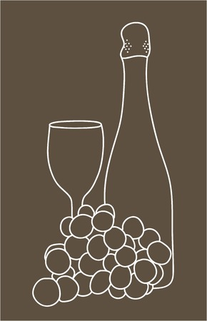 een fles champagne
