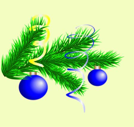 twig: Christmas fir twig