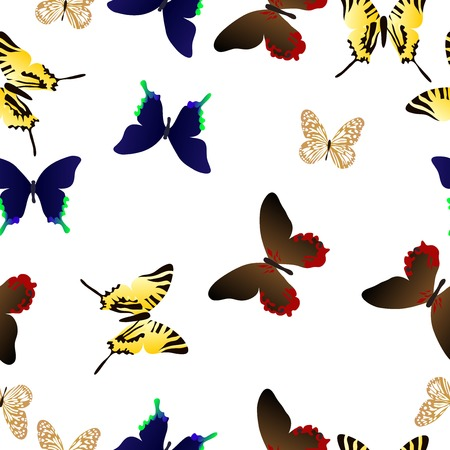 repeating background: butterfly seamless Illustration