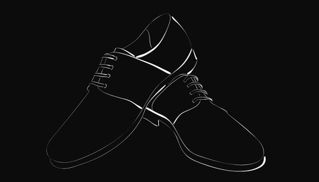 men's: mens shoes Illustration