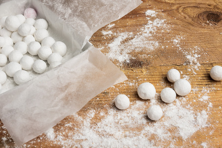 powdered: the sweetness of cranberries in powdered sugar