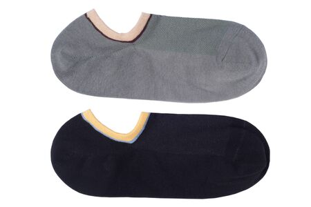 Mens socks in the layout on a white background isolated