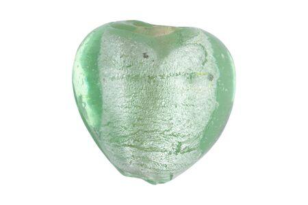 Semi-precious natural stone on a white background