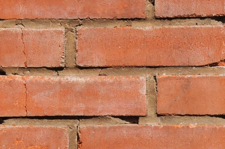 Background of old red vintage brick wall texture Stock Photo