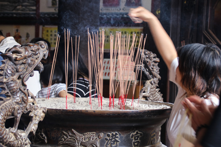 Taiwan temple 스톡 콘텐츠