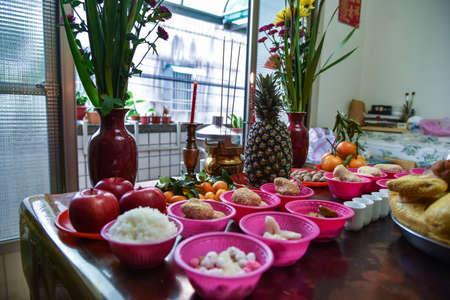 Yingge, Taiwan-January 24, 2020: god worship in chinese new year. Editorial