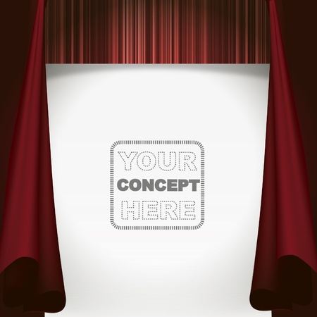 Show curtain background  Vector