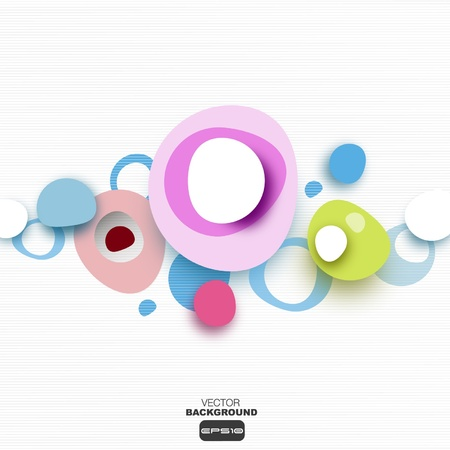 circle shape: Abstract bubbles background to place your concept  Illustration