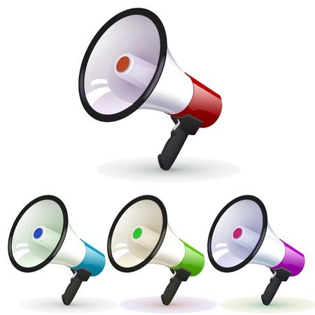 megafoon groep ontwerp Stock Illustratie